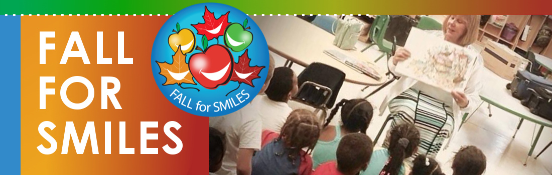 fall for smiles campaign image with classroom