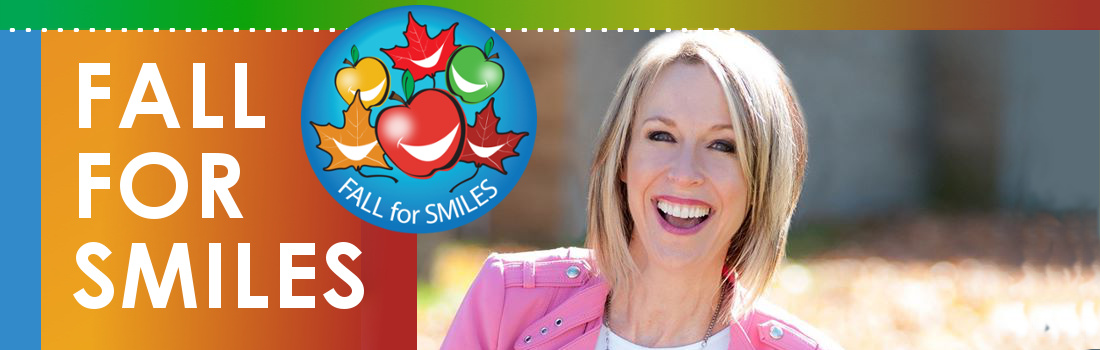 fall for smiles campaign image with a smiling woman