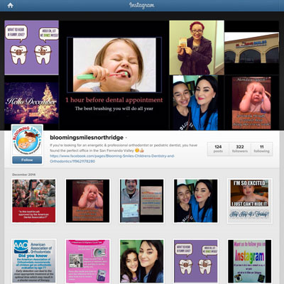 Instagram Marketing - Blooming Smiles Northridge