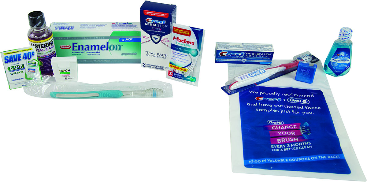 oral hygiene take home bag