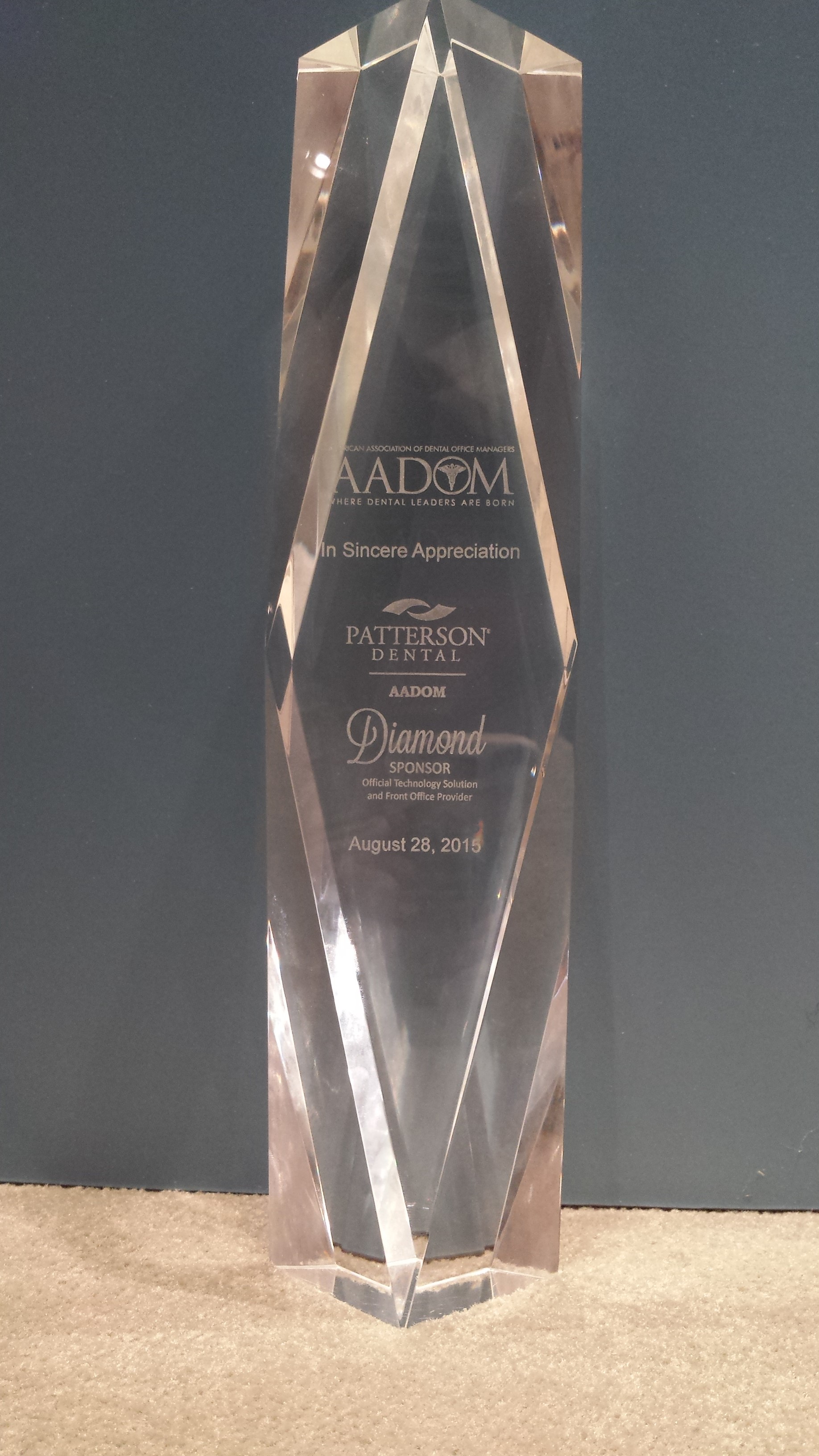 Diamond Sponsor Award