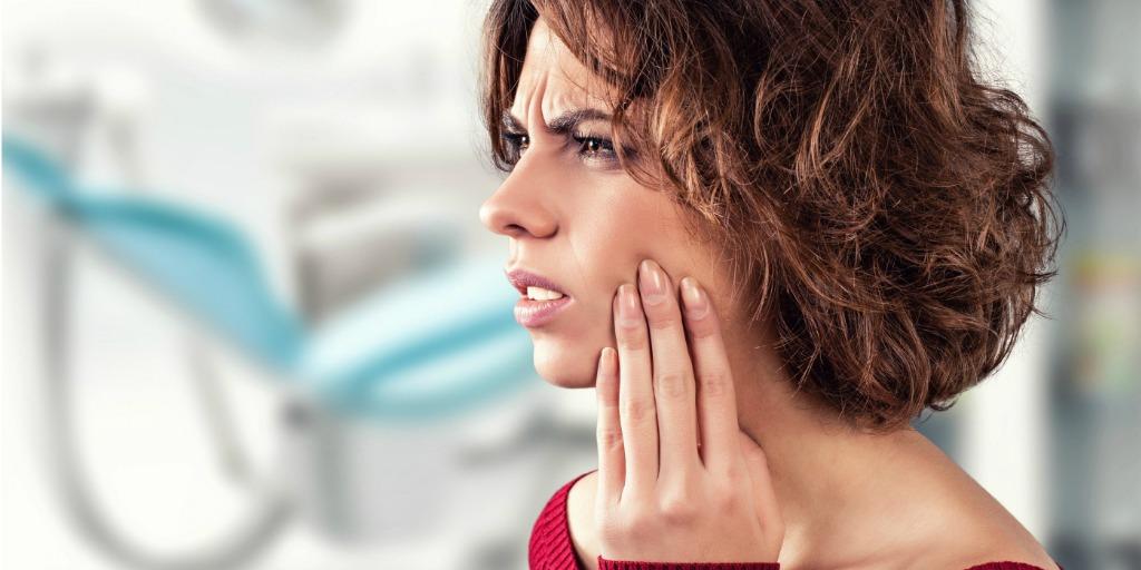 irritated dental patient