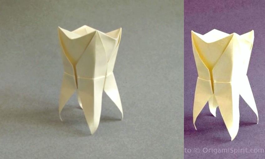 origami paper teeth