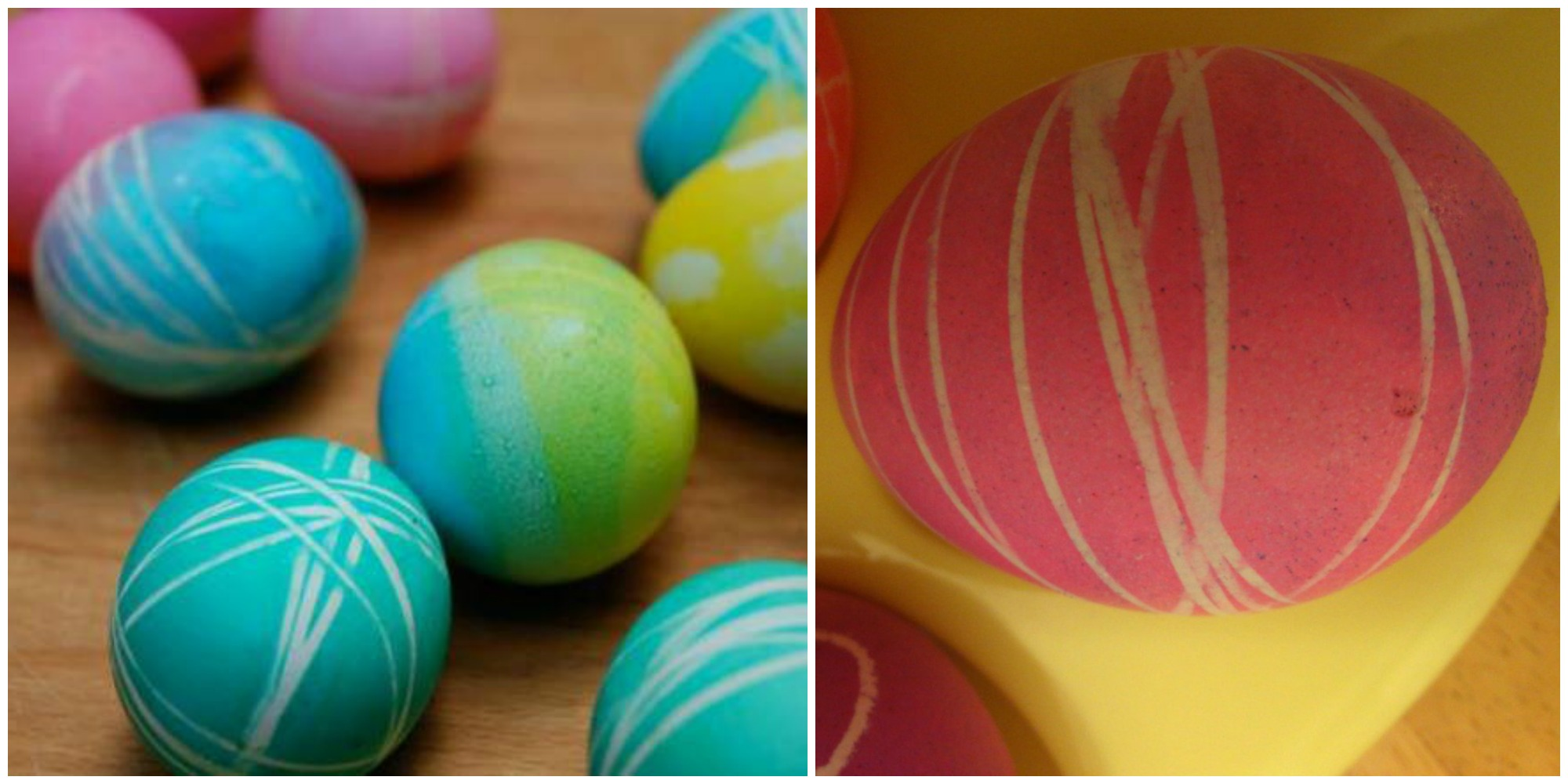 use floss to make easter eggs