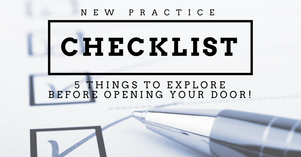 new practice checklist header