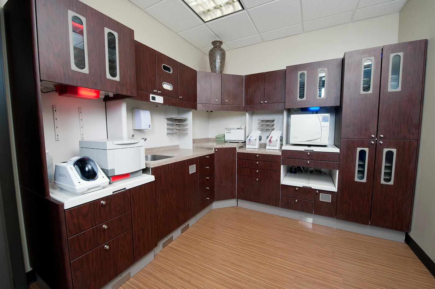 sterilization center at Memorial City Smiles in Houston, Texas