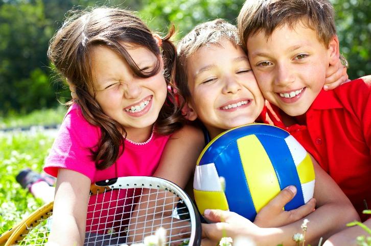 3 kids at kids camp