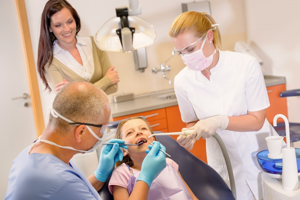 young dental patient in chair