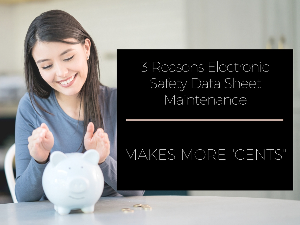 3 reasons electronic safety data sheet maintainance makes more cents