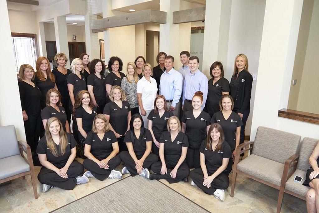 happy dental team