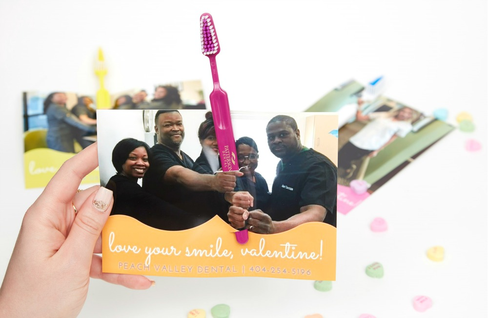peach valley dental diy toothbrush valentine