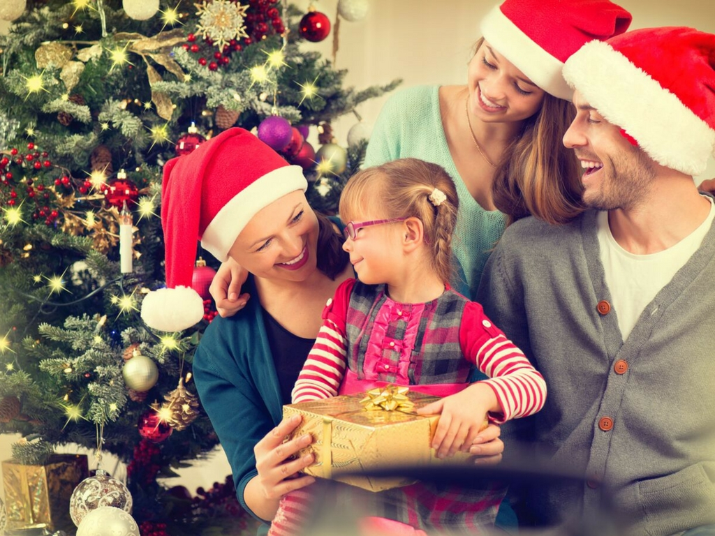 whitening teeth for family holiday photo
