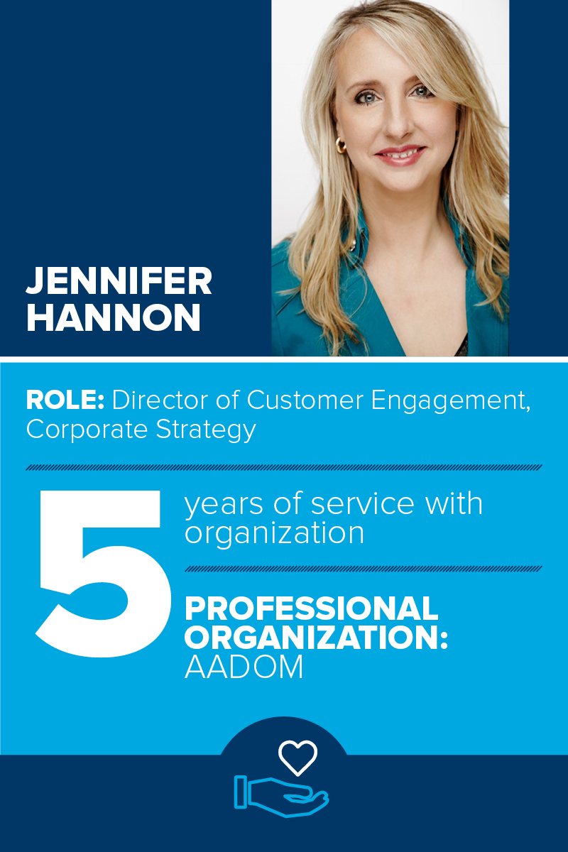 Patterson Profiles Jennifer Hannon's involvement with AADOM
