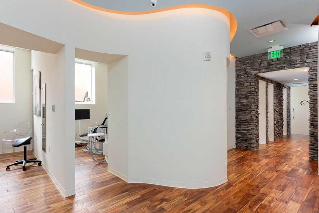 atlanta dental spa hallway