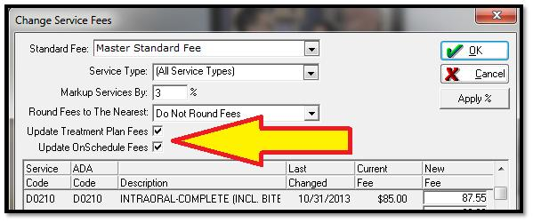 Eaglesoft Tip - Updating Fees 1