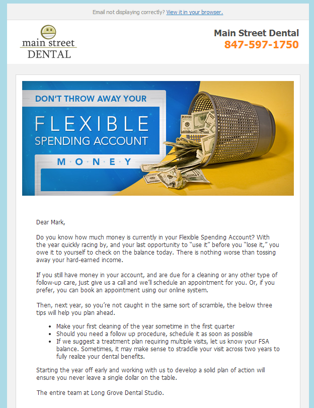 Flexible Spending Reminder - RevenueWell