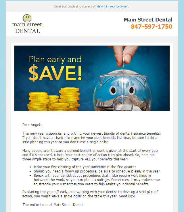Plan Early and Save - RevenueWell