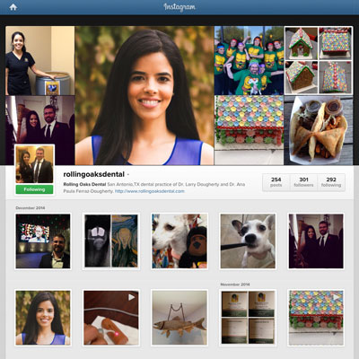 Instagram Marketing - Rolling Oaks Dental