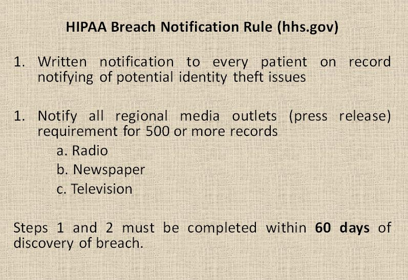 HIPAA Breach Notification Rule (hhs.gov)