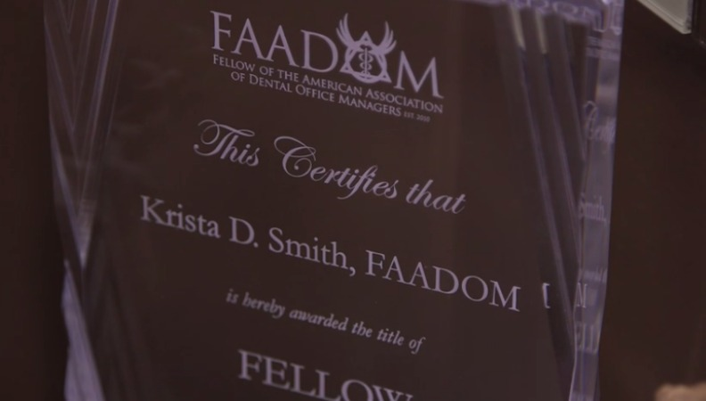 Krista Smith aadom plaque