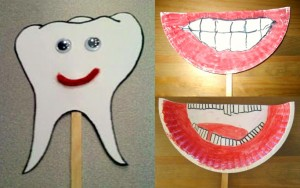 dental crafts on a stick for kids