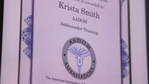 krista smith aadom certificate