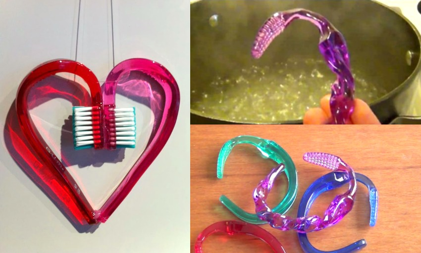 crafts made with melted toothbrushes