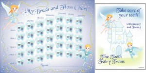 patterson tooth twins floss chart and coloring book