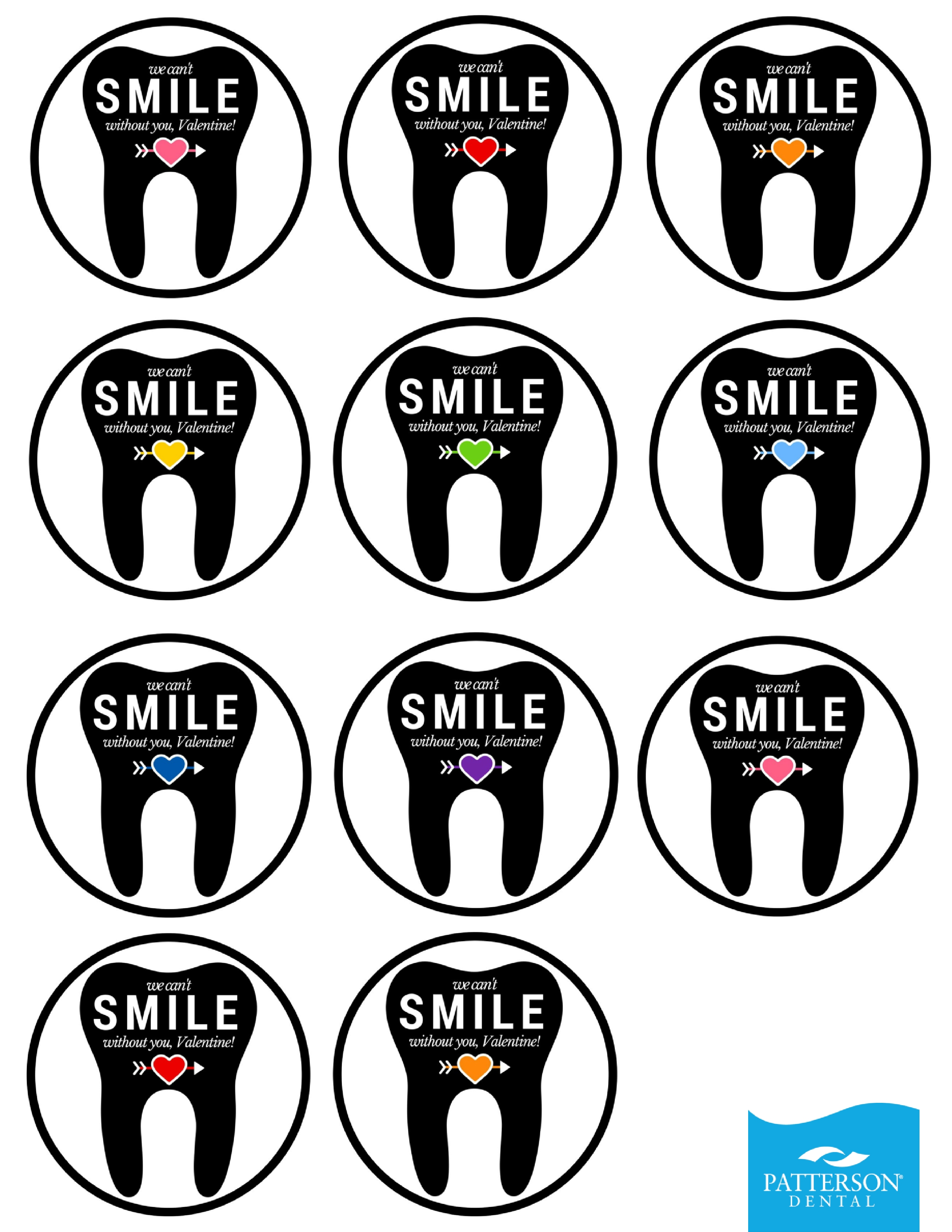 printable dental stickers for toothbrushes