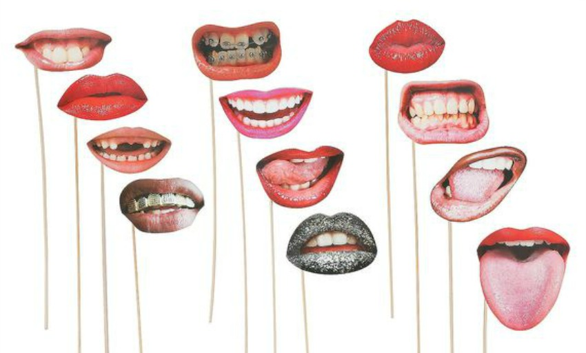 realistic cardstock mouths on sticks