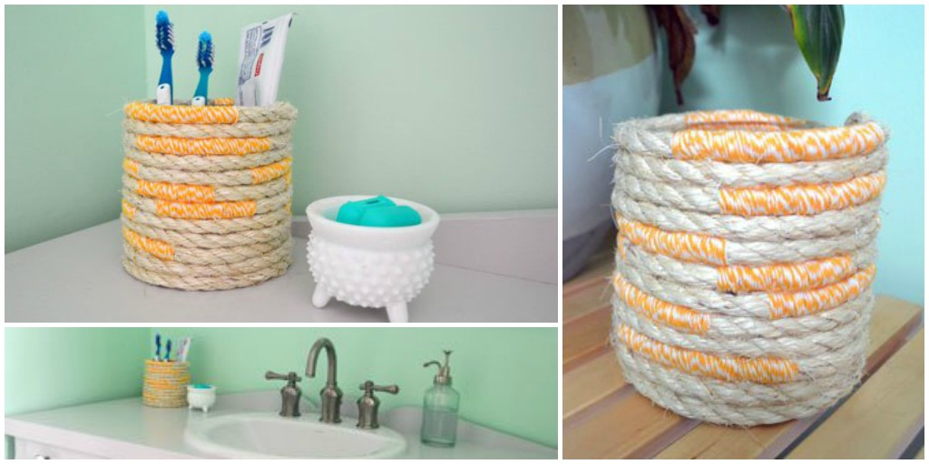 nautical rope toothbrush holder