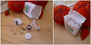 floss emergency sewing kit