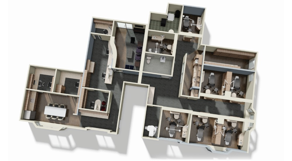 3D digital mockup of pinedo floorplans