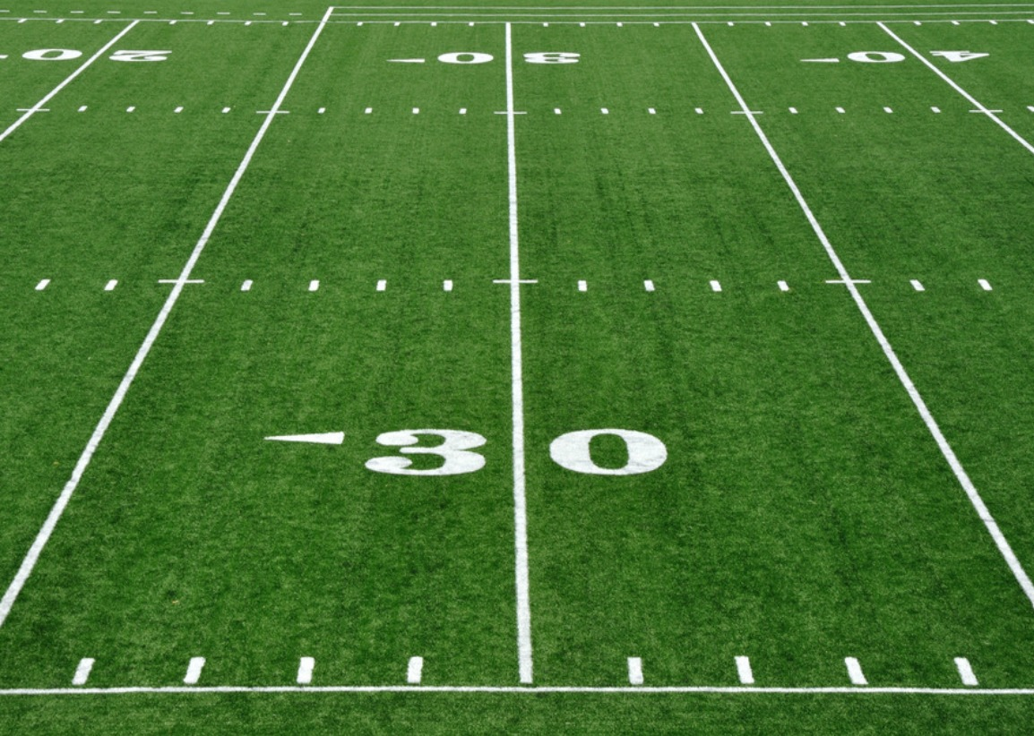 the size of a football field
