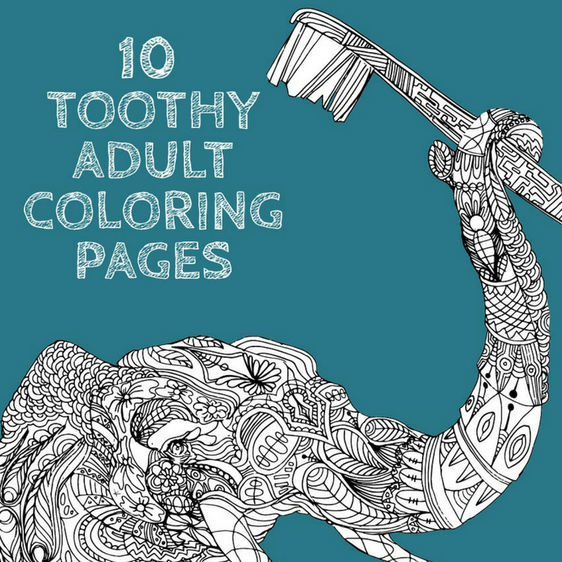 10 toothy adult coloring pages offthecusp