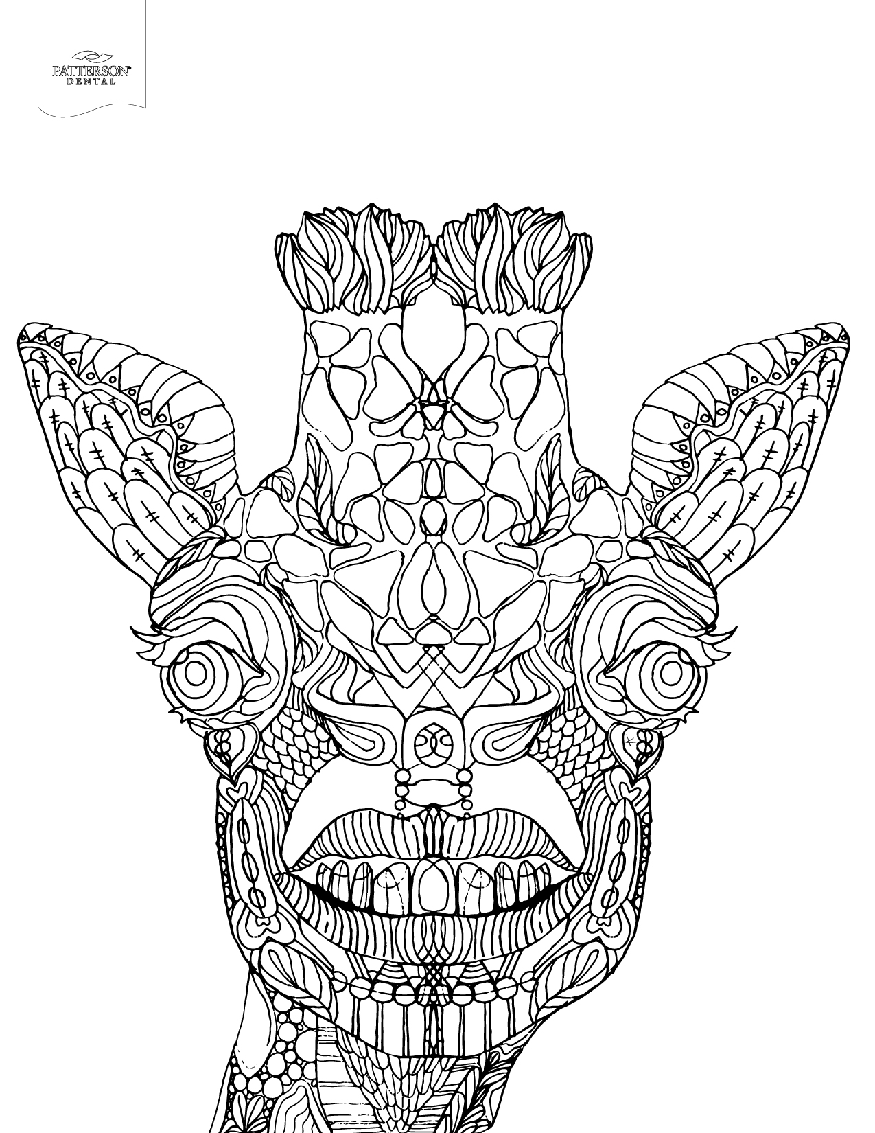 10 toothy adult coloring pages printable off the cusp for Giraffe coloring pages to print