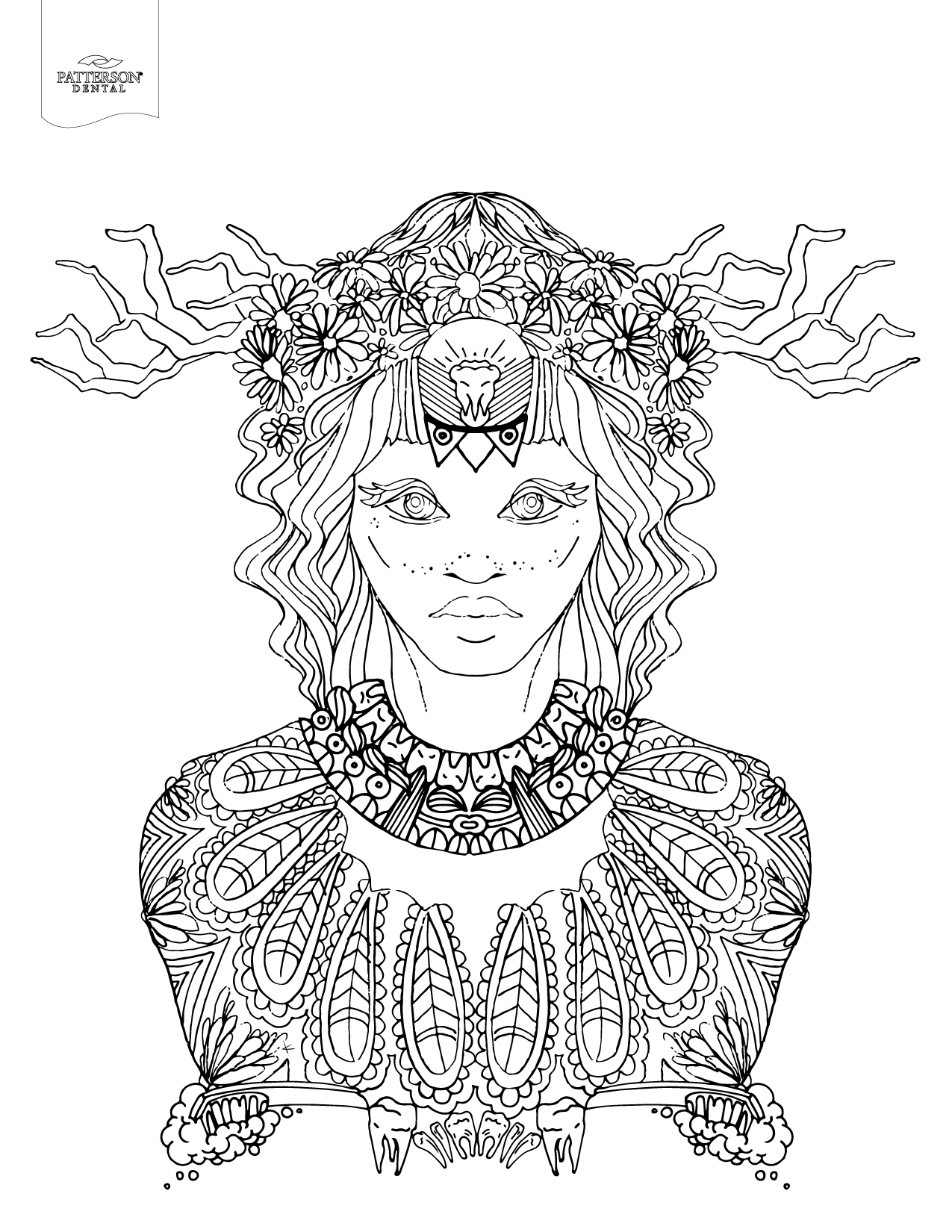 10 Toothy Adult Coloring Pages [Printable]
