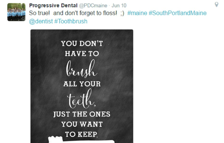 Dental social media tips motivational quotes