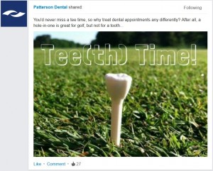dental social media tips promote products creatively