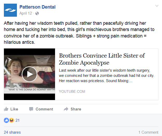 dental social media tips share videos