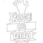 Trick or teeth coloring page