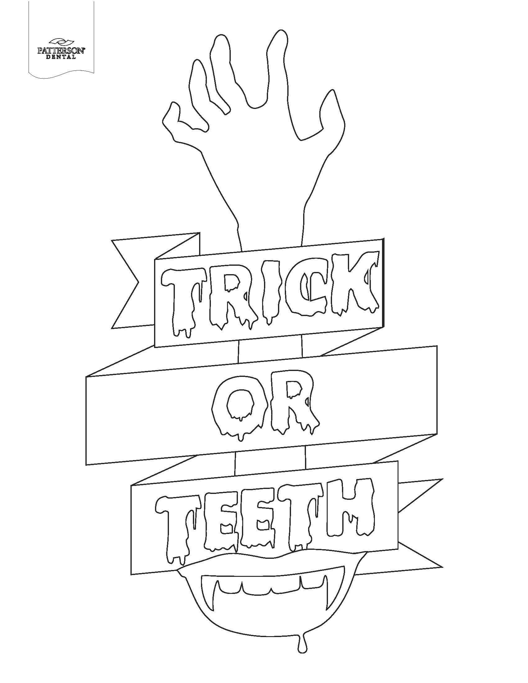 Arrr Ya Flossing Coloring Page Trick Or Teeth