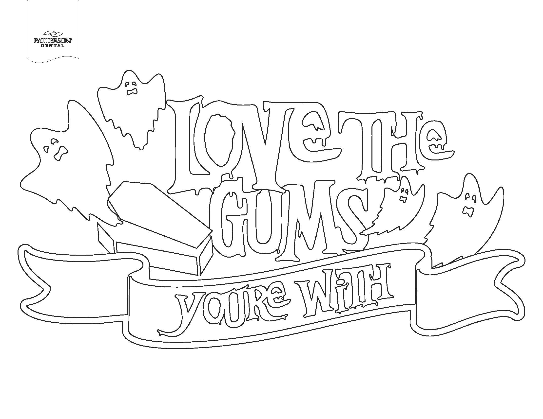 Love the gums you're with coloring page