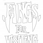 Fangs for visiting coloring page