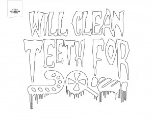 Will clean teeth for candy coloring page
