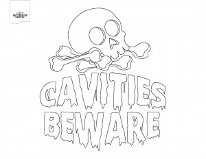 cavities beware coloring page