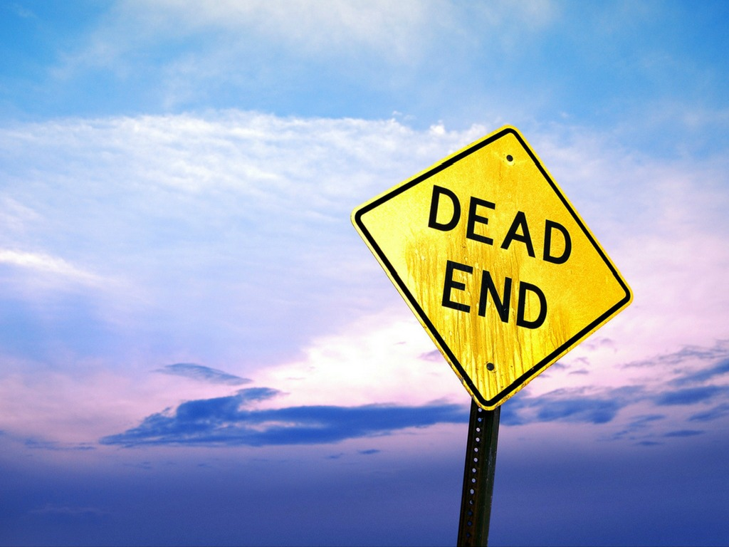 dead end sign watercolor sky