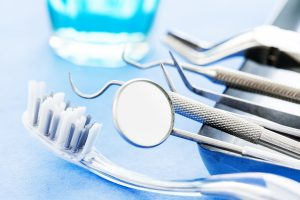 Dental tools and toothbrush
