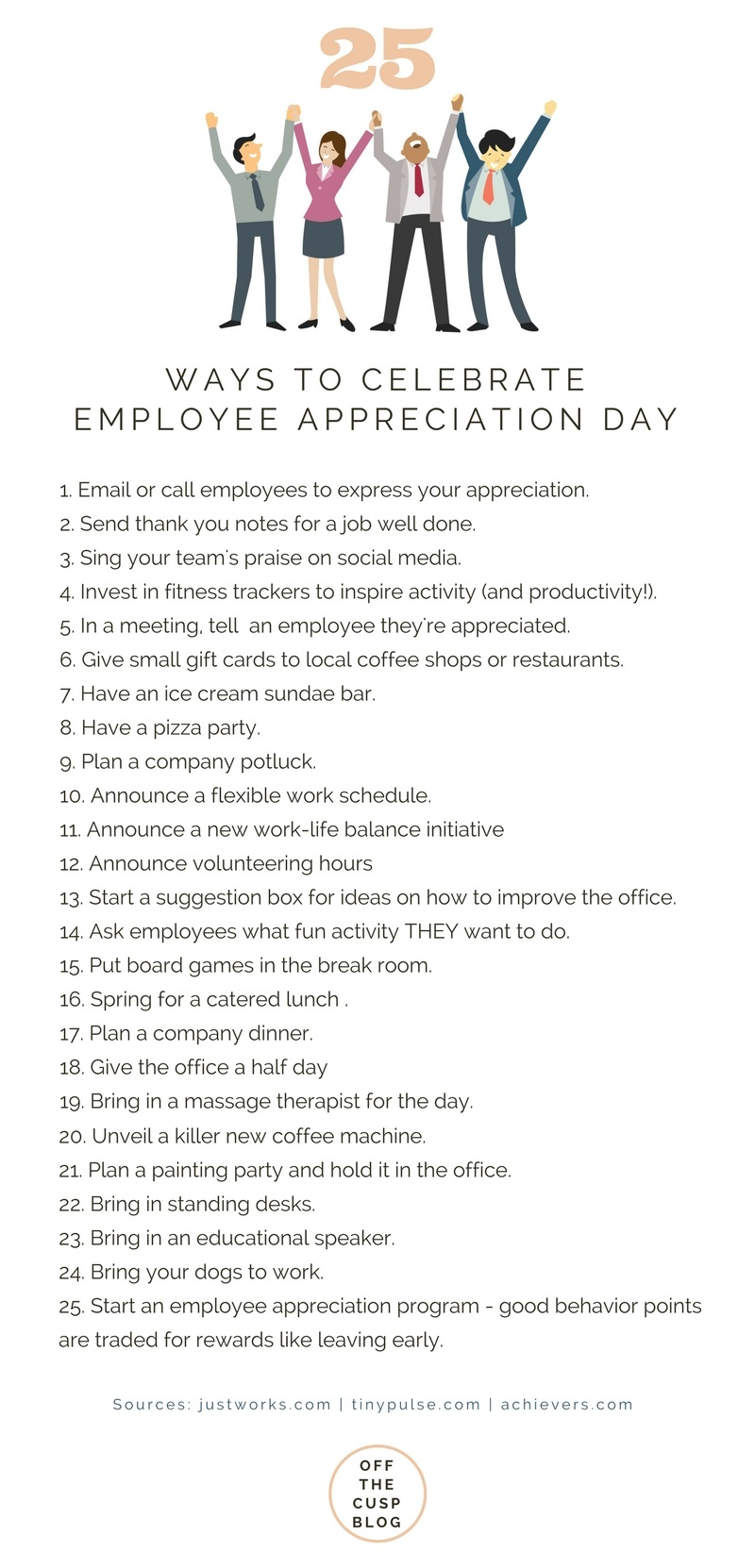 25 ways to celebrate employee appreciation day