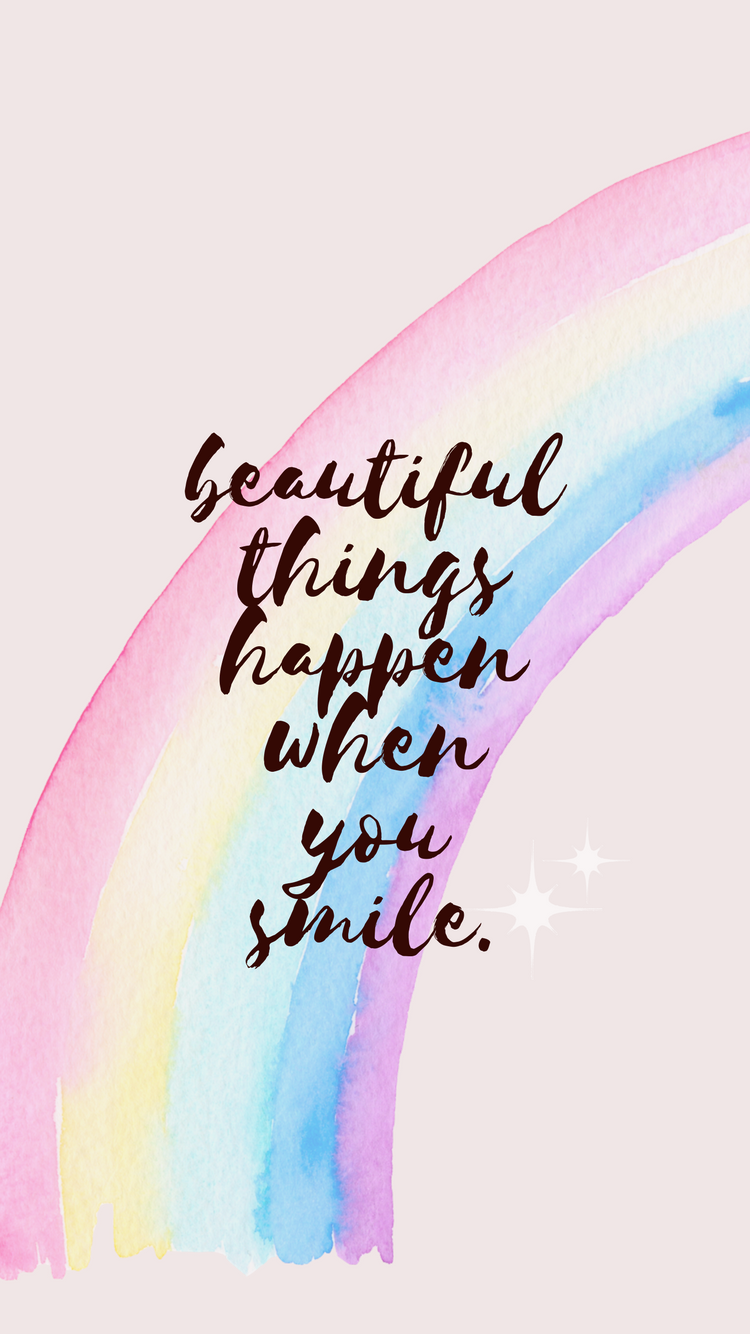 Beautiful Things Happen When You Smile Iphone Wallpaper Off The Cusp